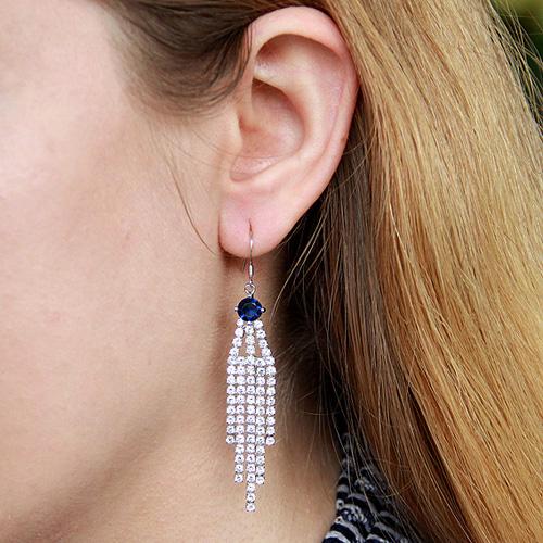 boucle oreille femme argent zirconium 9300136 pic5