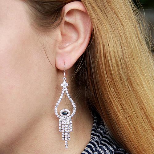 boucle oreille femme argent zirconium 9300137 pic5