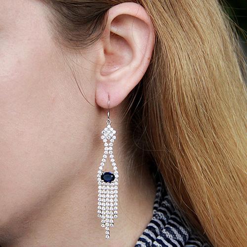 boucle oreille femme argent zirconium 9300138 pic5