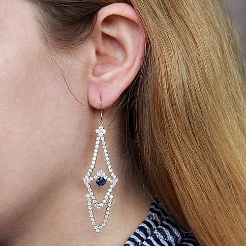 boucle oreille femme argent zirconium 9300139 pic5