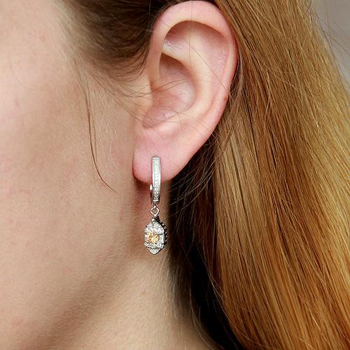 boucle oreille femme argent zirconium 9300142 pic5