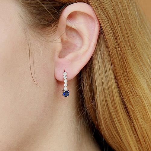 boucle oreille femme argent zirconium 9300143 pic5
