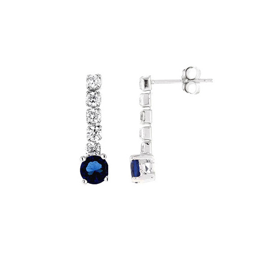 boucle oreille femme argent zirconium 9300143