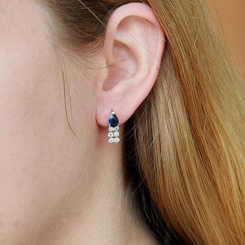 boucle oreille femme argent zirconium 9300144 pic5