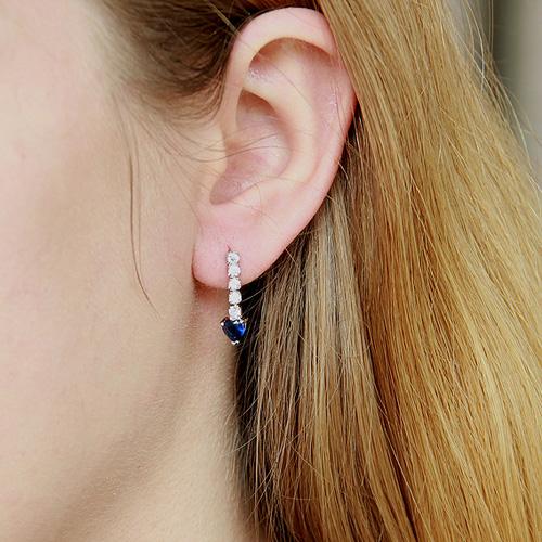 boucle oreille femme argent zirconium 9300145 pic5