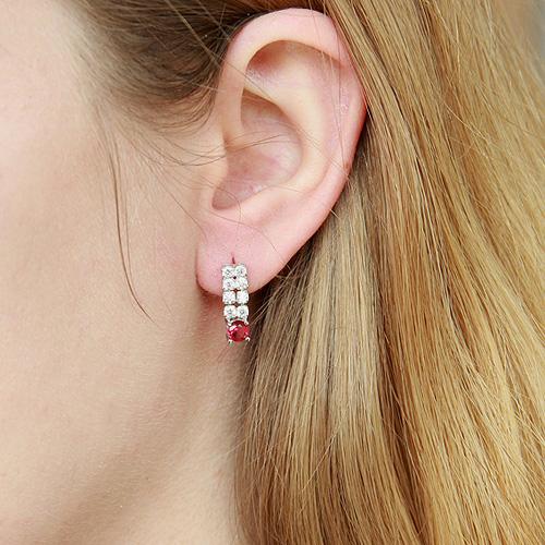 boucle oreille femme argent zirconium 9300147 pic5