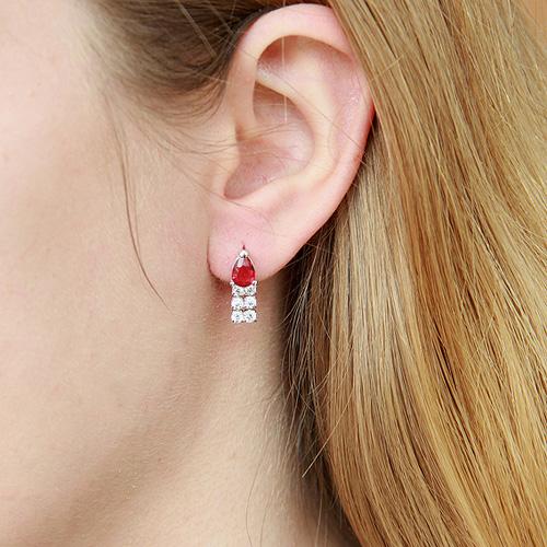 boucle oreille femme argent zirconium 9300148 pic5
