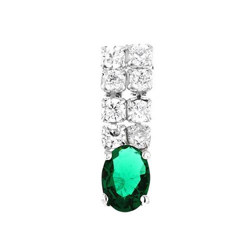 boucle oreille femme argent zirconium 9300150 pic2