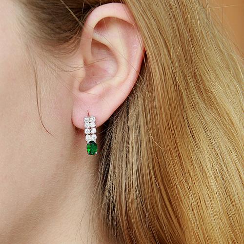 boucle oreille femme argent zirconium 9300150 pic5