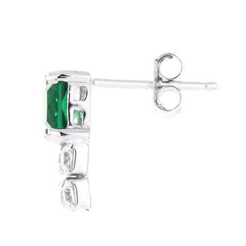 boucle oreille femme argent zirconium 9300151 pic3