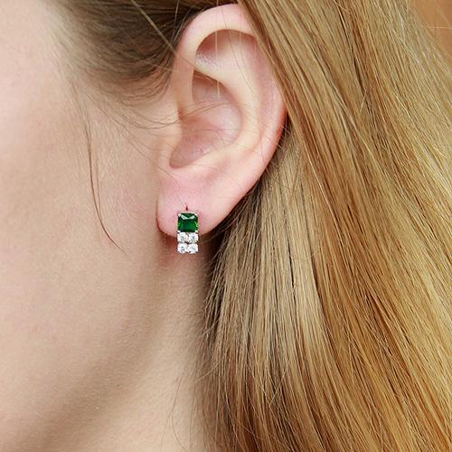 boucle oreille femme argent zirconium 9300151 pic5
