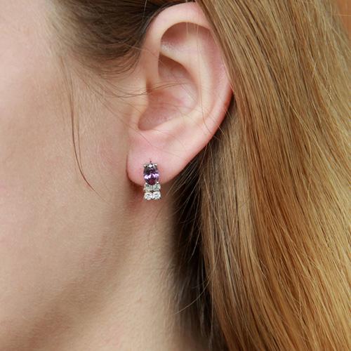 boucle oreille femme argent zirconium 9300152 pic5