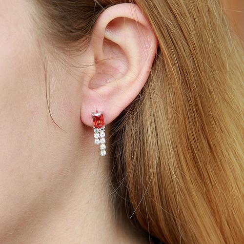 boucle oreille femme argent zirconium 9300154 pic5