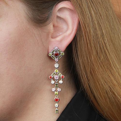 boucle oreille femme argent zirconium 9300155 pic5