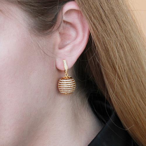 boucle oreille femme argent zirconium 9300156 pic5