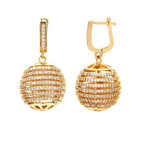 boucle oreille femme argent zirconium 9300156