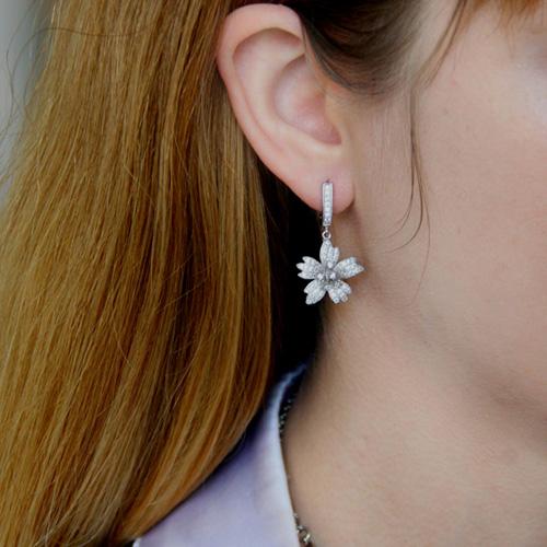 boucle oreille femme argent zirconium 9300157 pic5
