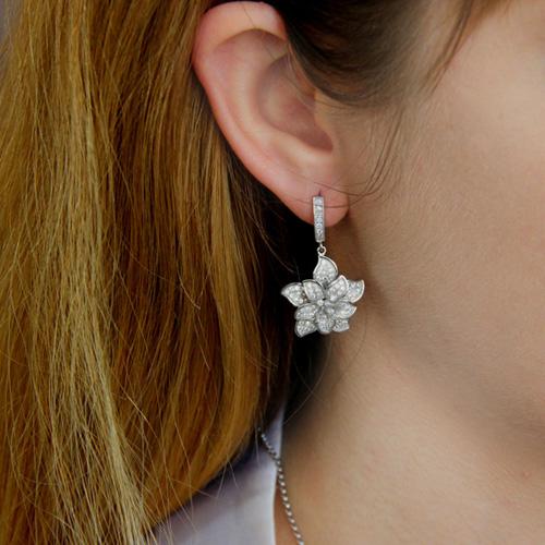 boucle oreille femme argent zirconium 9300158 pic5