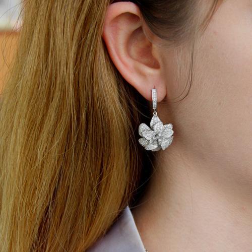 boucle oreille femme argent zirconium 9300159 pic5