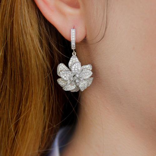 boucle oreille femme argent zirconium 9300159 pic6
