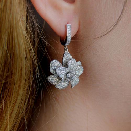 boucle oreille femme argent zirconium 9300159 pic7