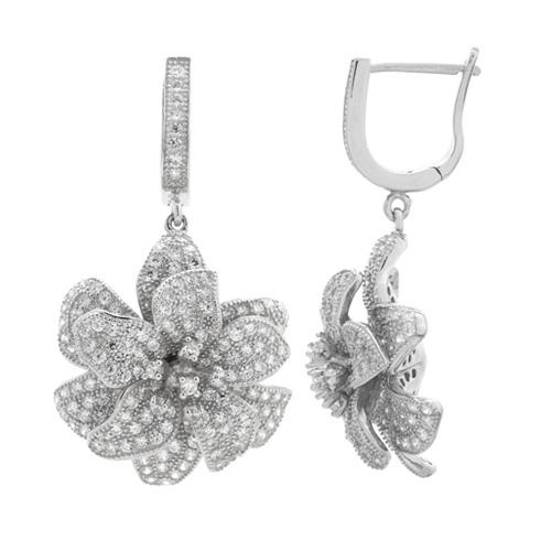 boucle oreille femme argent zirconium 9300159