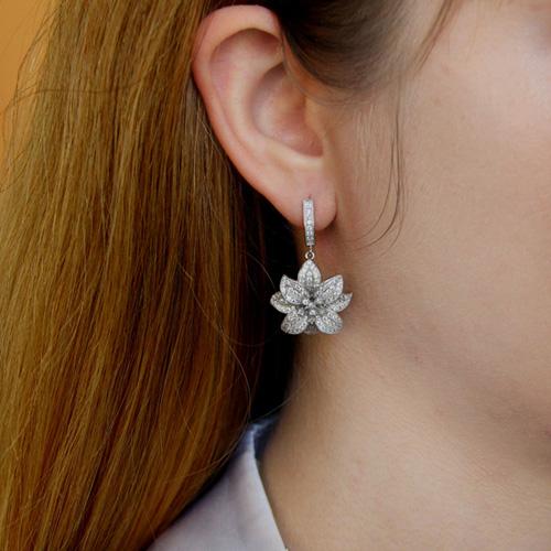 boucle oreille femme argent zirconium 9300160 pic5
