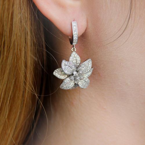 boucle oreille femme argent zirconium 9300160 pic6