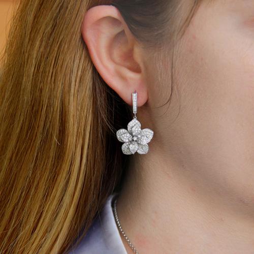 boucle oreille femme argent zirconium 9300161 pic5