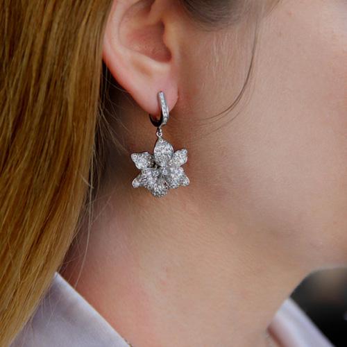 boucle oreille femme argent zirconium 9300162 pic5