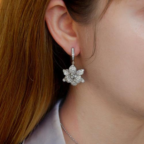 boucle oreille femme argent zirconium 9300162 pic6
