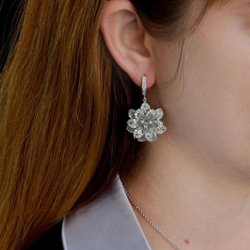 boucle oreille femme argent zirconium 9300163 pic5