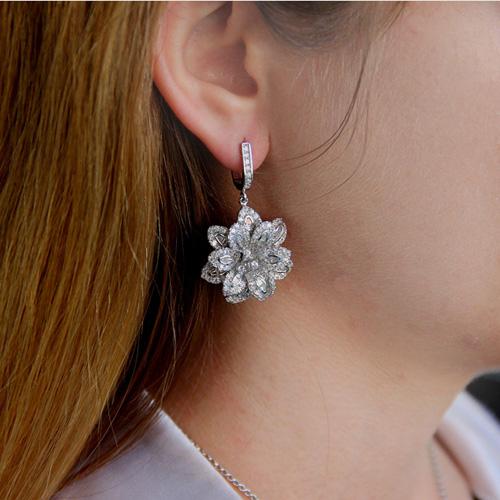 boucle oreille femme argent zirconium 9300163 pic6