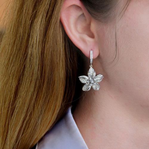 boucle oreille femme argent zirconium 9300164 pic5