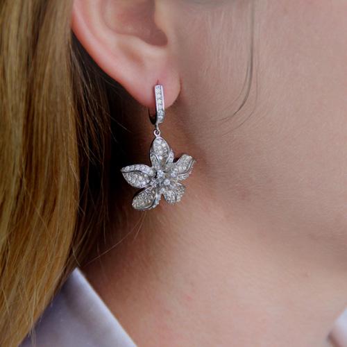 boucle oreille femme argent zirconium 9300164 pic6