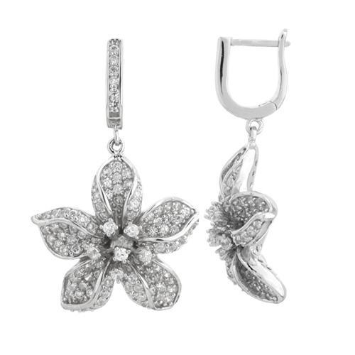 boucle oreille femme argent zirconium 9300164