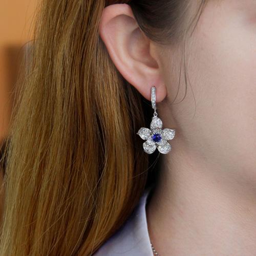 boucle oreille femme argent zirconium 9300165 pic5
