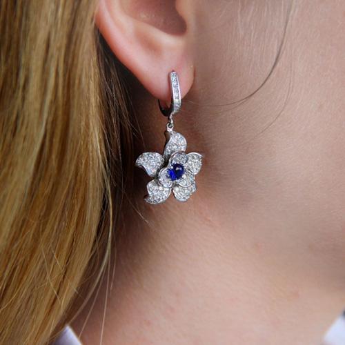 boucle oreille femme argent zirconium 9300165 pic6