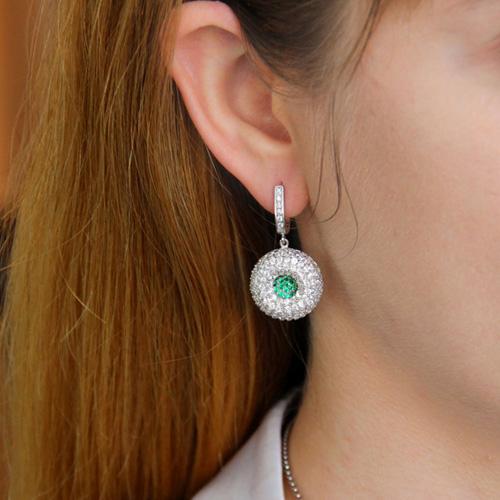 boucle oreille femme argent zirconium 9300166 pic5