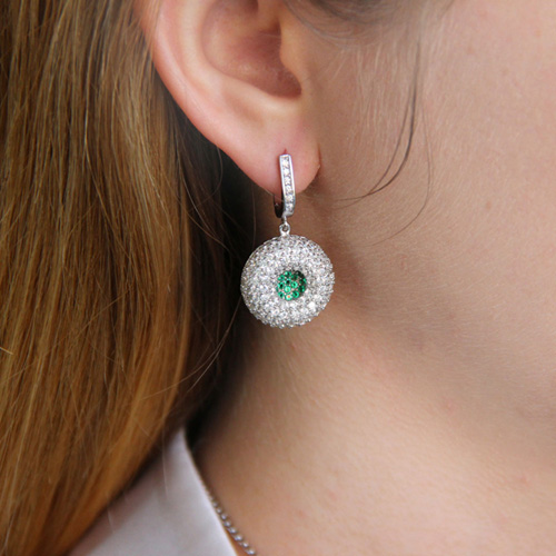 boucle oreille femme argent zirconium 9300166 pic6