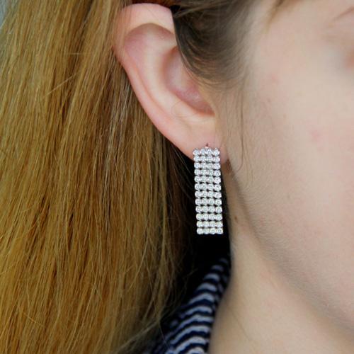 boucle oreille femme argent zirconium 9300167 pic5