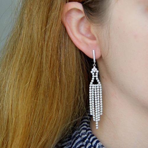boucle oreille femme argent zirconium 9300168 pic5