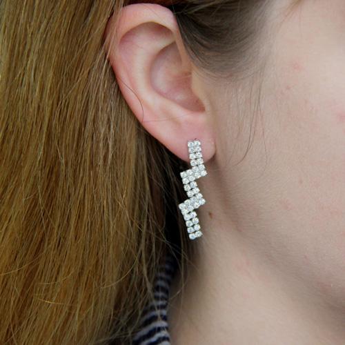 boucle oreille femme argent zirconium 9300169 pic5
