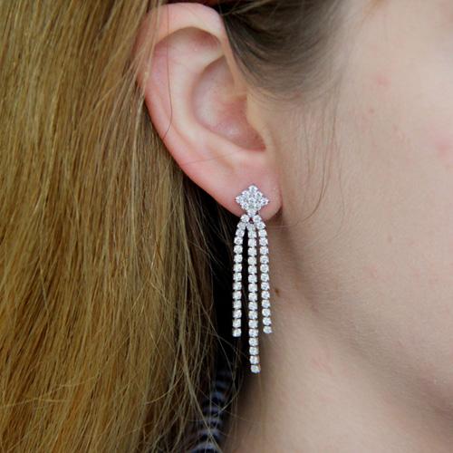 boucle oreille femme argent zirconium 9300170 pic5