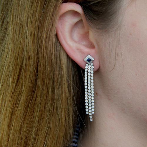 boucle oreille femme argent zirconium 9300171 pic5