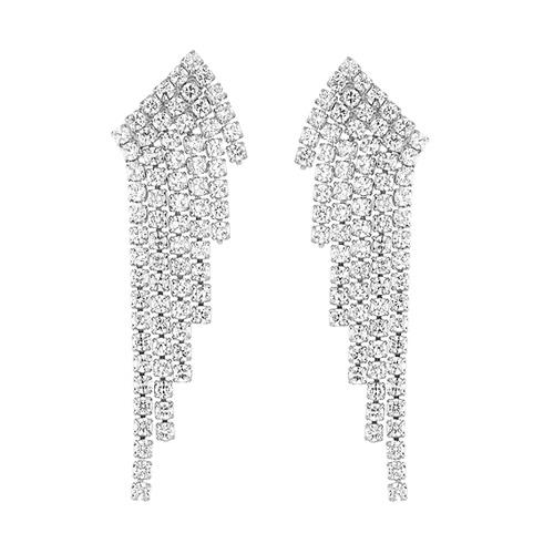 boucle oreille femme argent zirconium 9300172 pic2
