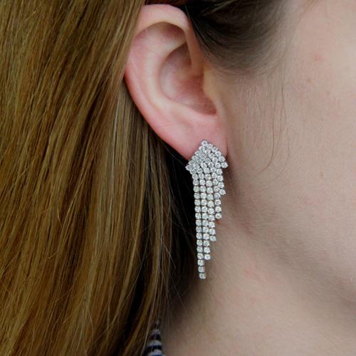 boucle oreille femme argent zirconium 9300172 pic5