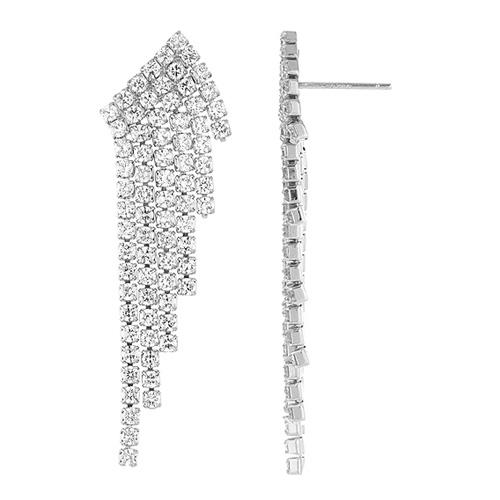 boucle oreille femme argent zirconium 9300172