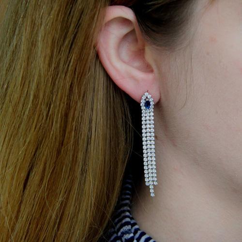 boucle oreille femme argent zirconium 9300174 pic5