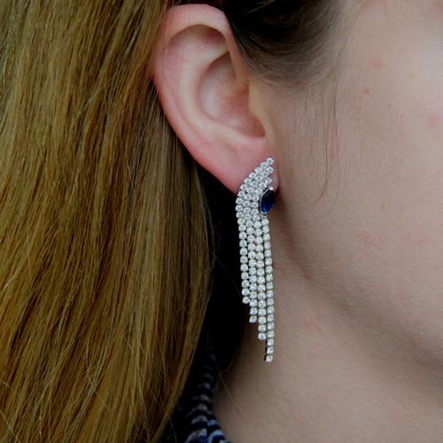 boucle oreille femme argent zirconium 9300175 pic5